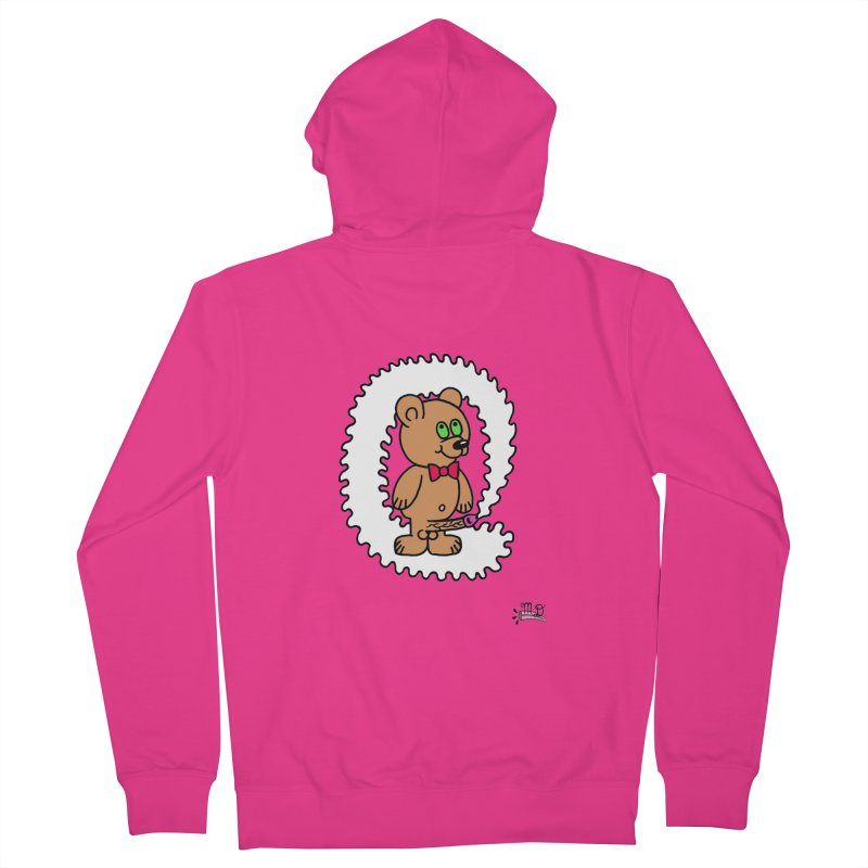 Cummie Bear Men's French Terry Zip-Up Hoody by Mike Diana T-Shirts! Horrible Ugly Heads Limited E
