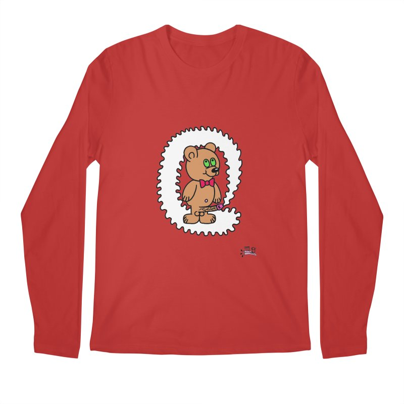 Cummie Bear Men's Longsleeve T-Shirt by Mike Diana T-Shirts! Horrible Ugly Heads Limited E