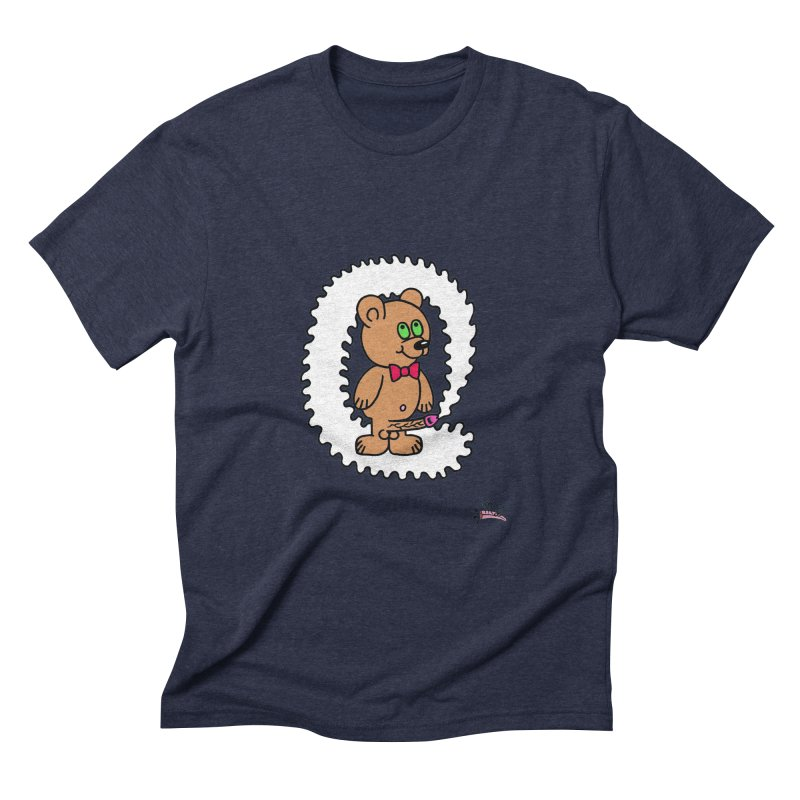 Cummie Bear Men's Triblend T-Shirt by Mike Diana T-Shirts! Horrible Ugly Heads Limited E