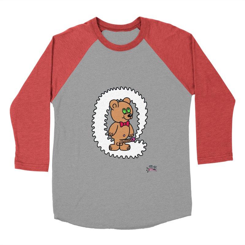 Cummie Bear Women's Baseball Triblend Longsleeve T-Shirt by Mike Diana T-Shirts Mugs and More!