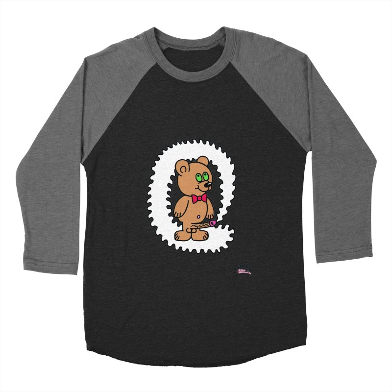 Cummie Bear Women's Baseball Triblend T-Shirt by Mike Diana T-Shirts! Horrible Ugly Heads Limited E