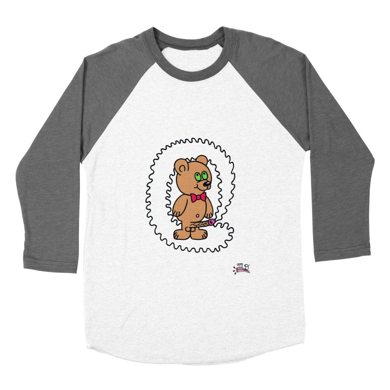 Cummie Bear Men's Baseball Triblend T-Shirt by Mike Diana T-Shirts! Horrible Ugly Heads Limited E