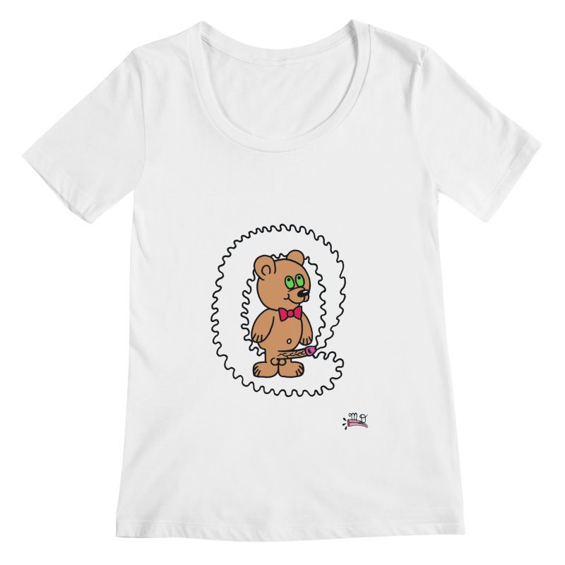 Cummie Bear Women's Scoopneck by Mike Diana T-Shirts! Horrible Ugly Heads Limited E
