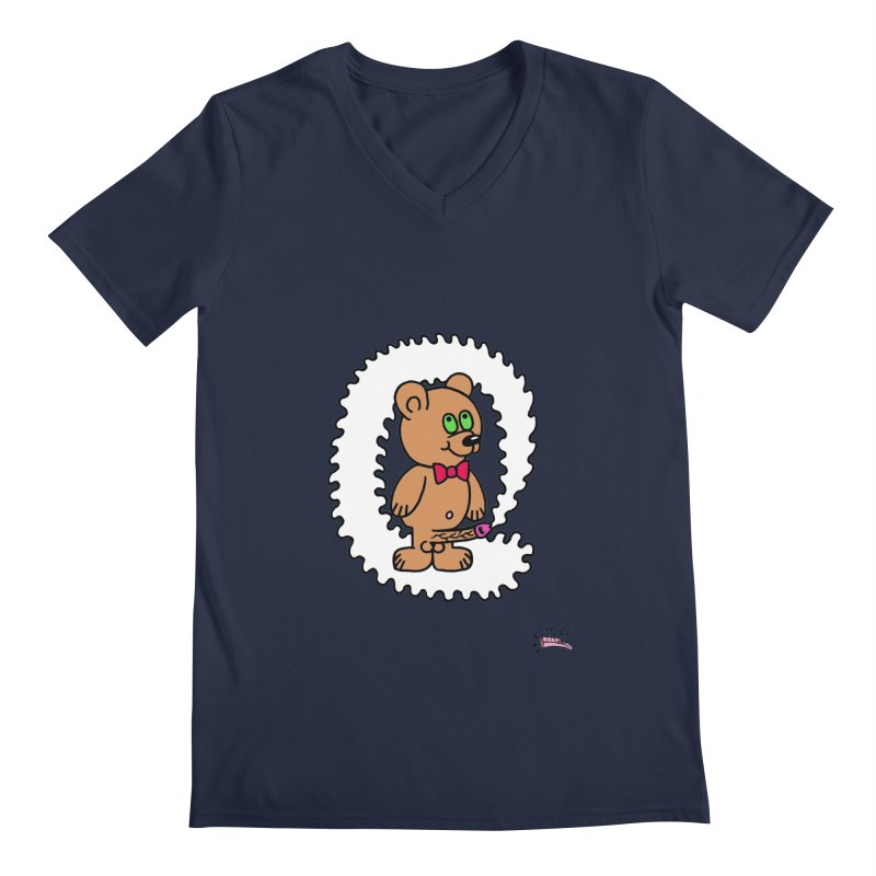 Cummie Bear Men's V-Neck by Mike Diana T-Shirts! Horrible Ugly Heads Limited E