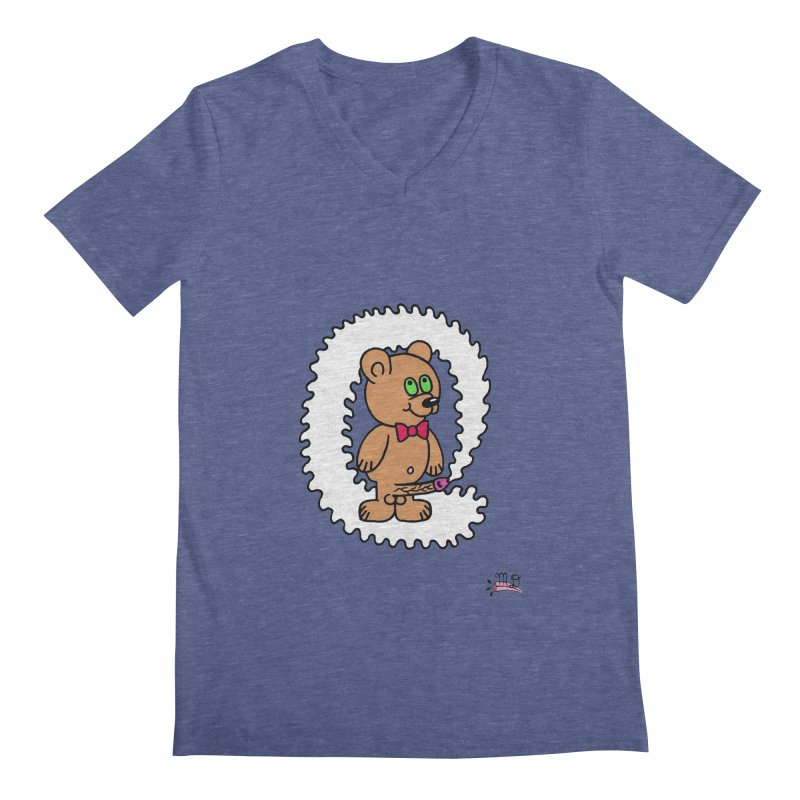 Cummie Bear Men's Regular V-Neck by Mike Diana T-Shirts Mugs and More!