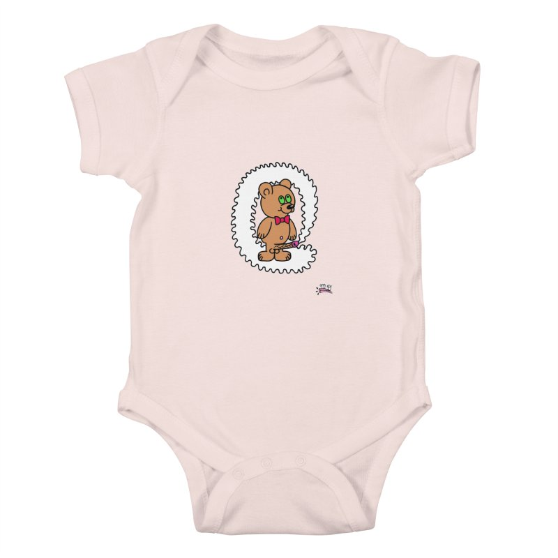 Cummie Bear Kids Baby Bodysuit by Mike Diana T-Shirts! Horrible Ugly Heads Limited E
