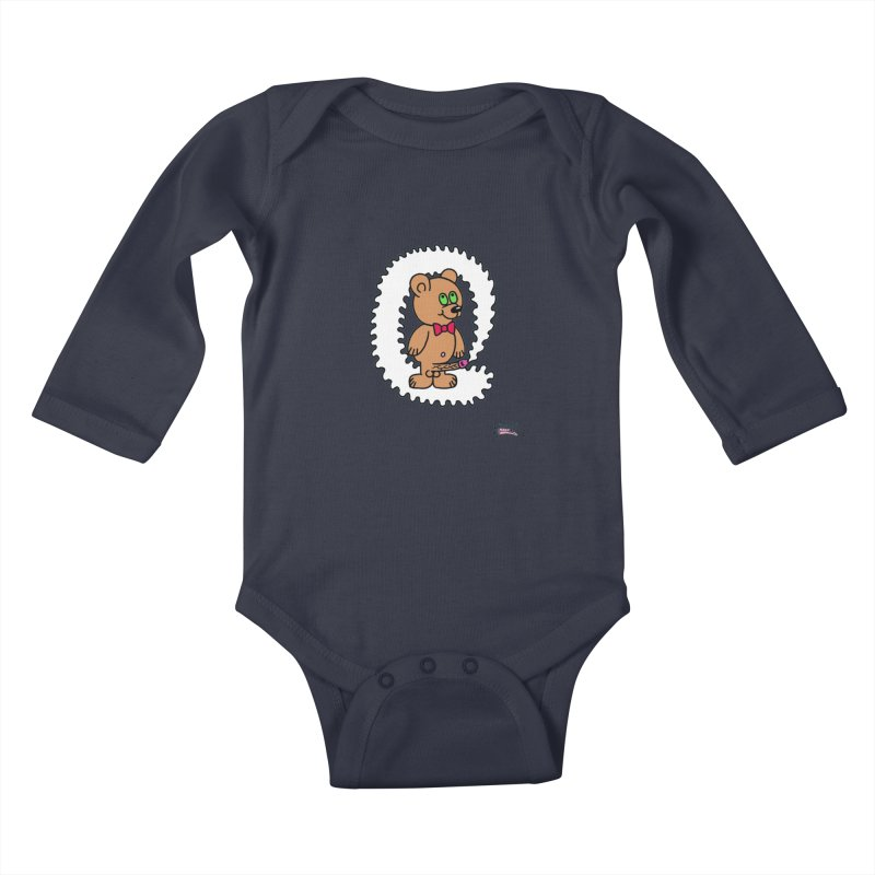 Cummie Bear Kids Baby Longsleeve Bodysuit by Mike Diana T-Shirts Mugs and More!