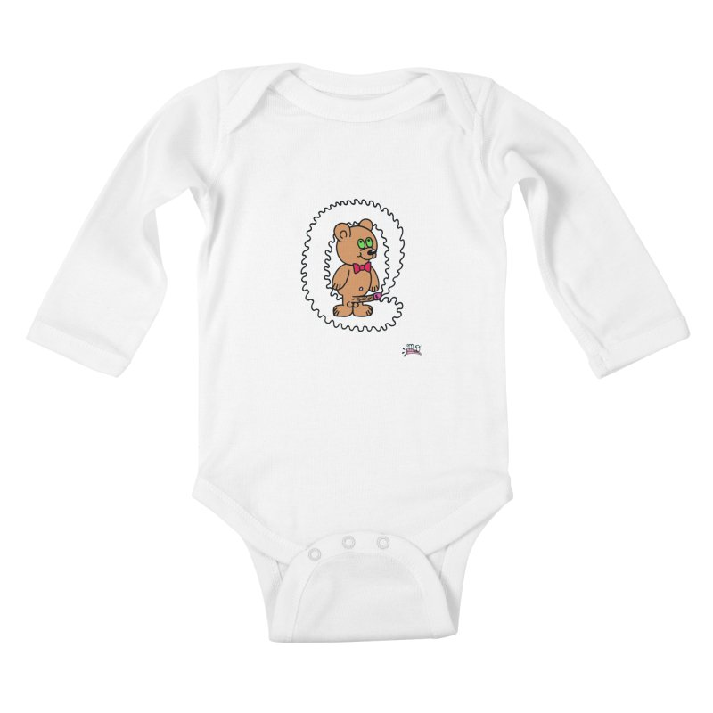 Cummie Bear Kids Baby Longsleeve Bodysuit by Mike Diana T-Shirts! Horrible Ugly Heads Limited E