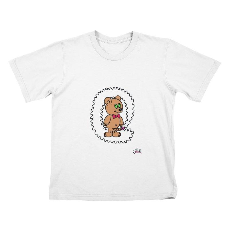Cummie Bear Kids T-Shirt by Mike Diana T-Shirts! Horrible Ugly Heads Limited E