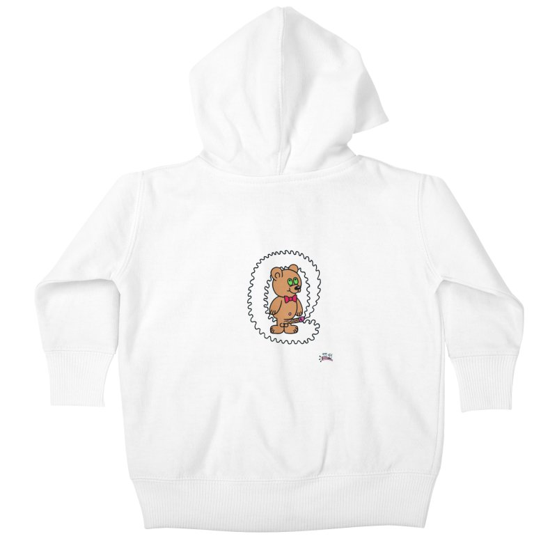 Cummie Bear Kids Baby Zip-Up Hoody by Mike Diana T-Shirts! Horrible Ugly Heads Limited E
