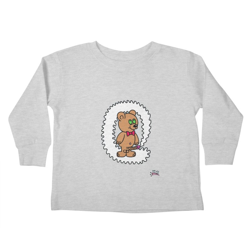 Cummie Bear Kids Toddler Longsleeve T-Shirt by Mike Diana T-Shirts! Horrible Ugly Heads Limited E