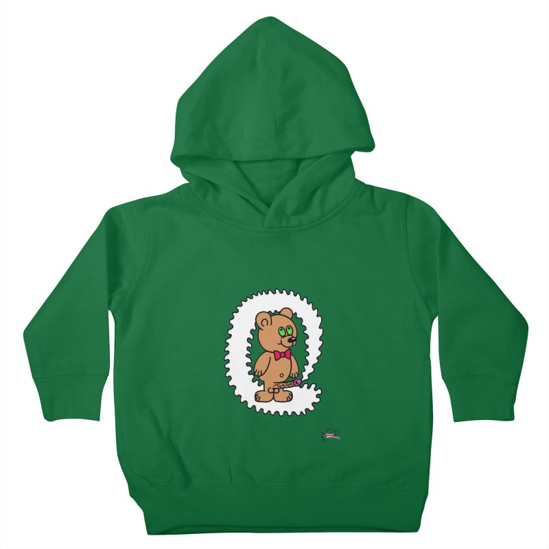 Cummie Bear Kids Toddler Pullover Hoody by Mike Diana T-Shirts! Horrible Ugly Heads Limited E