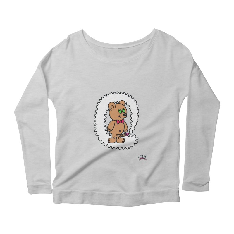 Cummie Bear Women's Longsleeve Scoopneck  by Mike Diana T-Shirts! Horrible Ugly Heads Limited E