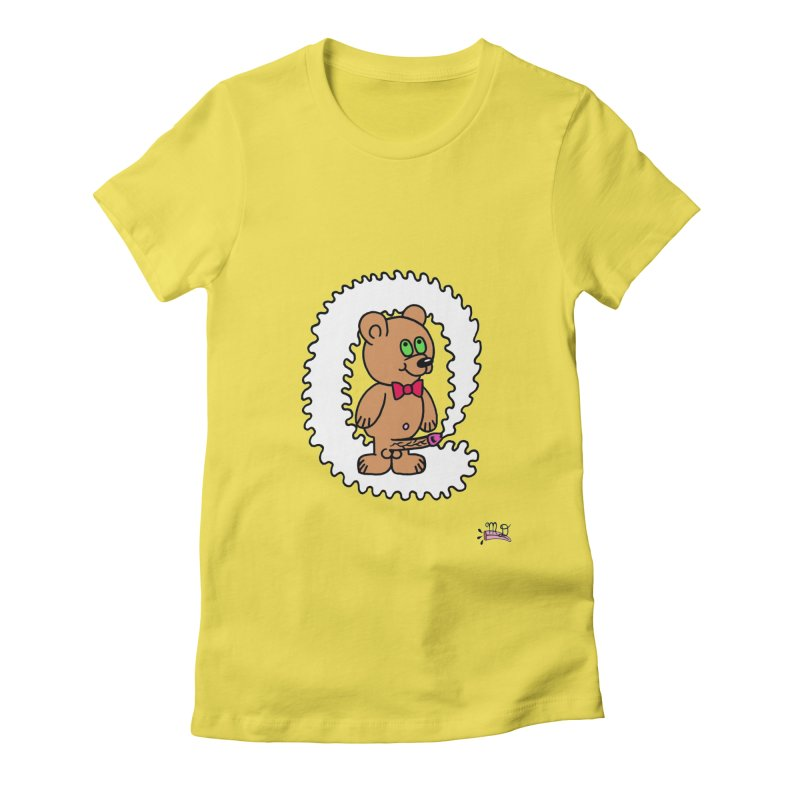 Cummie Bear Women's Fitted T-Shirt by Mike Diana T-Shirts! Horrible Ugly Heads Limited E