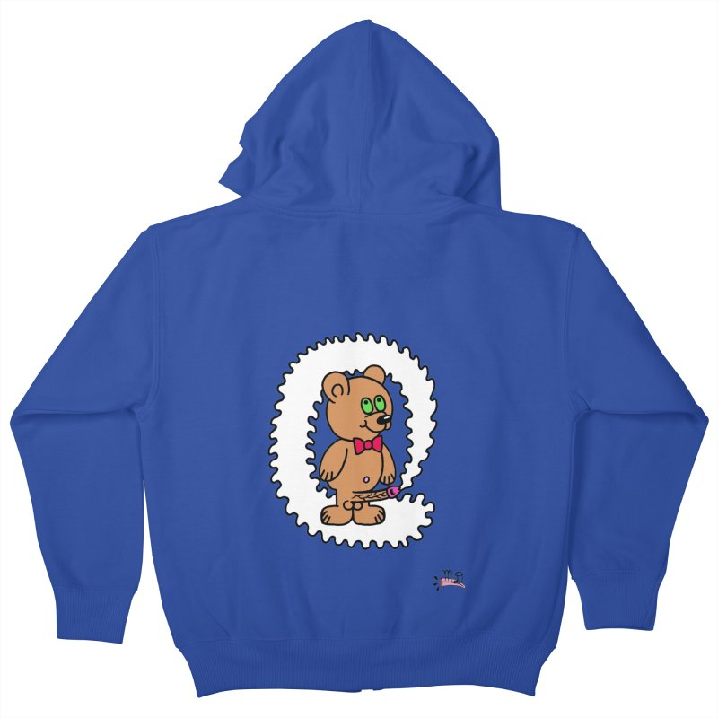 Cummie Bear Kids Zip-Up Hoody by Mike Diana T-Shirts! Horrible Ugly Heads Limited E