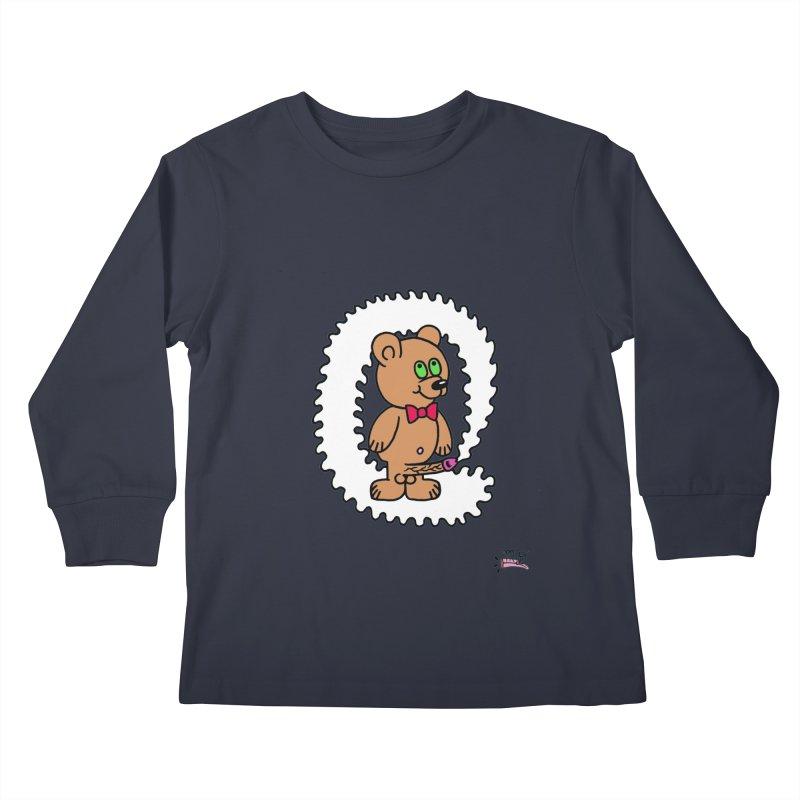 Cummie Bear Kids Longsleeve T-Shirt by Mike Diana T-Shirts! Horrible Ugly Heads Limited E