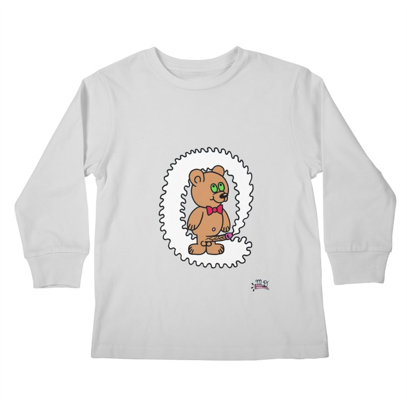 Cummie Bear Kids Longsleeve T-Shirt by Mike Diana T-Shirts! Horrible Ugly Heads Limited E