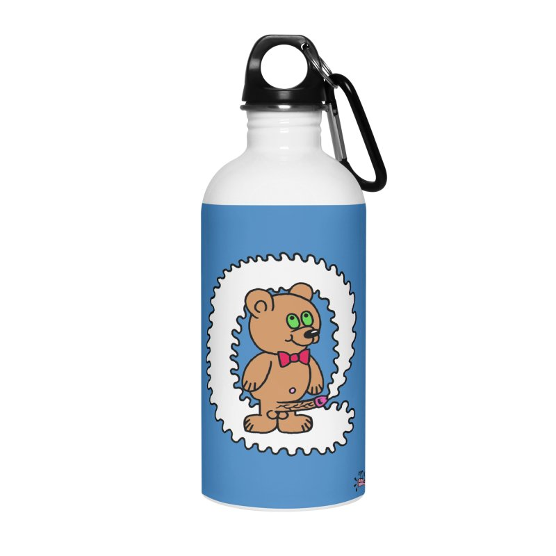 Cummie Bear Accessories Water Bottle by Mike Diana T-Shirts! Horrible Ugly Heads Limited E