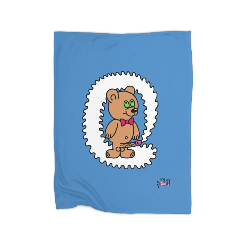 Cummie Bear Home Fleece Blanket Blanket by Mike Diana T-Shirts Mugs and More!