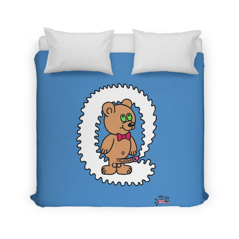 Cummie Bear Home Duvet by Mike Diana T-Shirts! Horrible Ugly Heads Limited E