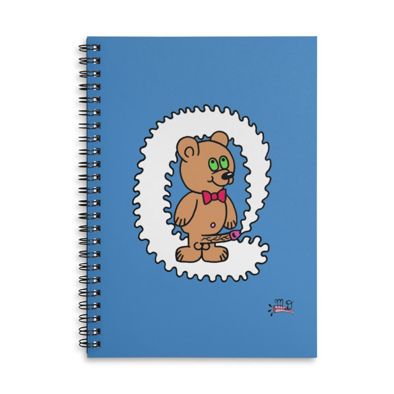 Cummie Bear Accessories Lined Spiral Notebook by Mike Diana T-Shirts Mugs and More!