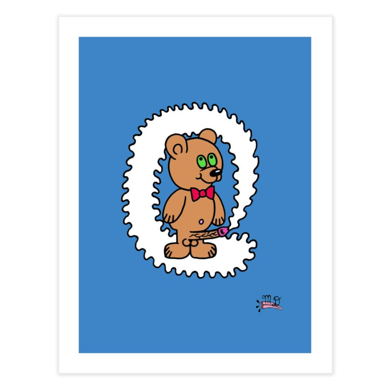 Cummie Bear Home Fine Art Print by Mike Diana T-Shirts! Horrible Ugly Heads Limited E