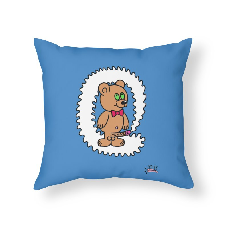 Cummie Bear Home Throw Pillow by Mike Diana T-Shirts! Horrible Ugly Heads Limited E