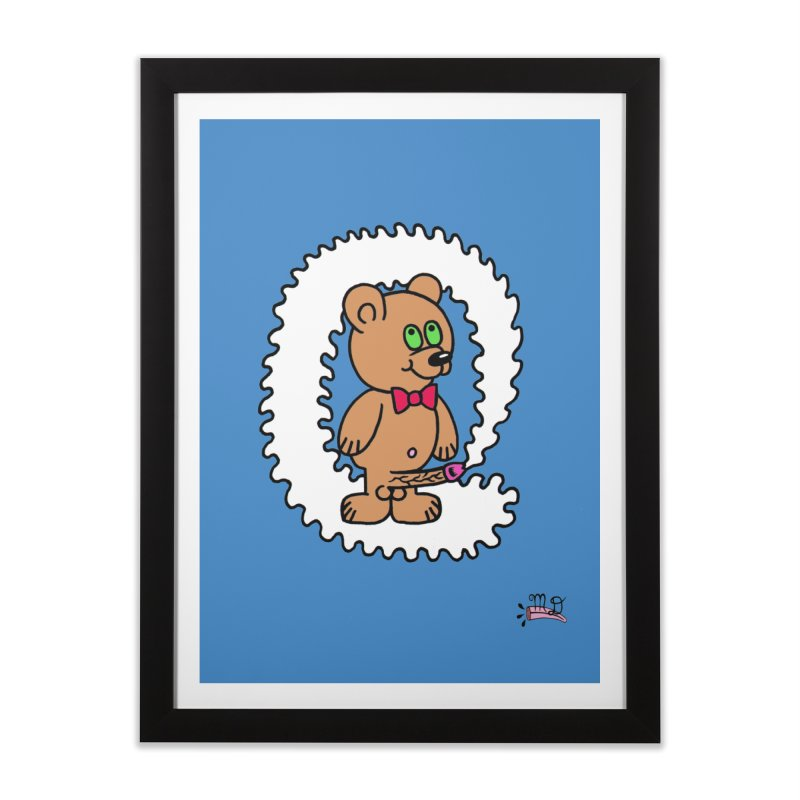 Cummie Bear Home Framed Fine Art Print by Mike Diana T-Shirts! Horrible Ugly Heads Limited E
