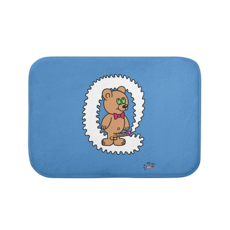 Cummie Bear Home Bath Mat by Mike Diana T-Shirts! Horrible Ugly Heads Limited E