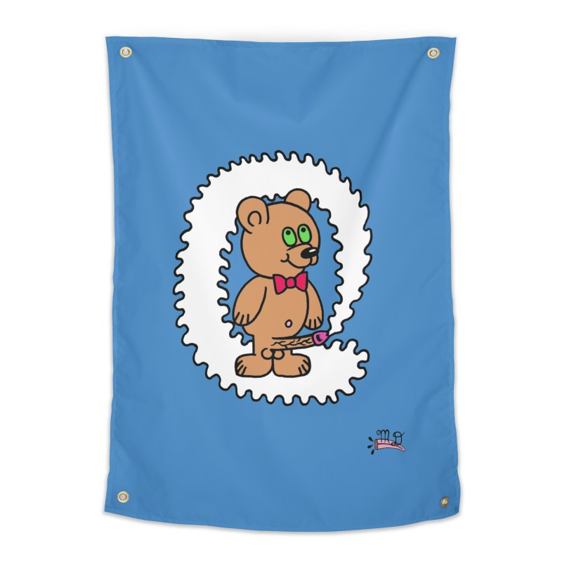 Cummie Bear Home Tapestry by Mike Diana T-Shirts! Horrible Ugly Heads Limited E