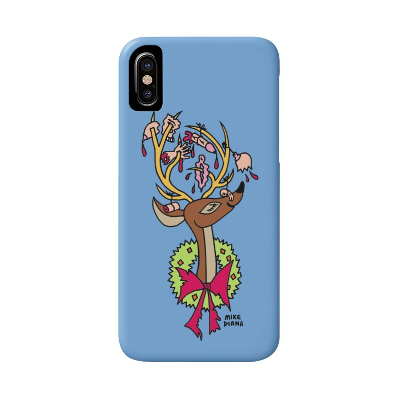 Mike Diana Christmas Trophy Accessories Phone Case by Mike Diana T-Shirts! Horrible Ugly Heads Limited E