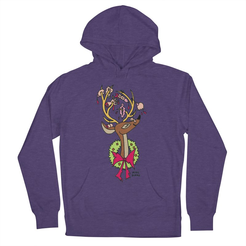 Mike Diana Christmas Trophy Women's Pullover Hoody by Mike Diana T-Shirts! Horrible Ugly Heads Limited E