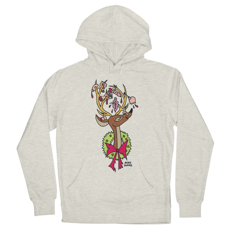 Mike Diana Christmas Trophy Men's Pullover Hoody by Mike Diana T-Shirts! Horrible Ugly Heads Limited E