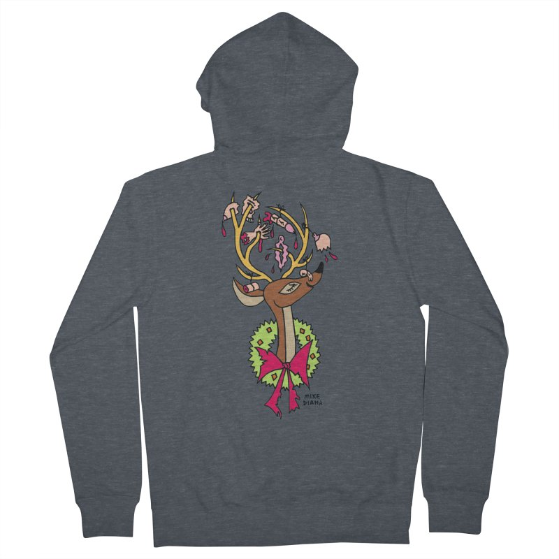 Mike Diana Christmas Trophy Men's French Terry Zip-Up Hoody by Mike Diana T-Shirts Mugs and More!