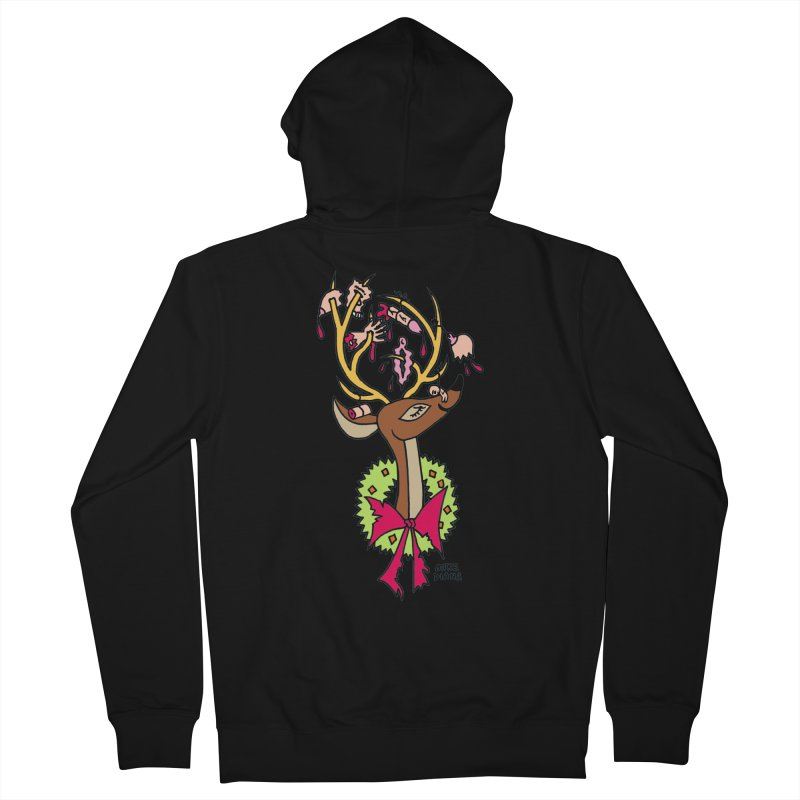 Mike Diana Christmas Trophy Men's Zip-Up Hoody by Mike Diana T-Shirts! Horrible Ugly Heads Limited E