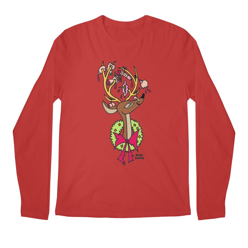 Mike Diana Christmas Trophy Men's Regular Longsleeve T-Shirt by Mike Diana T-Shirts Mugs and More!