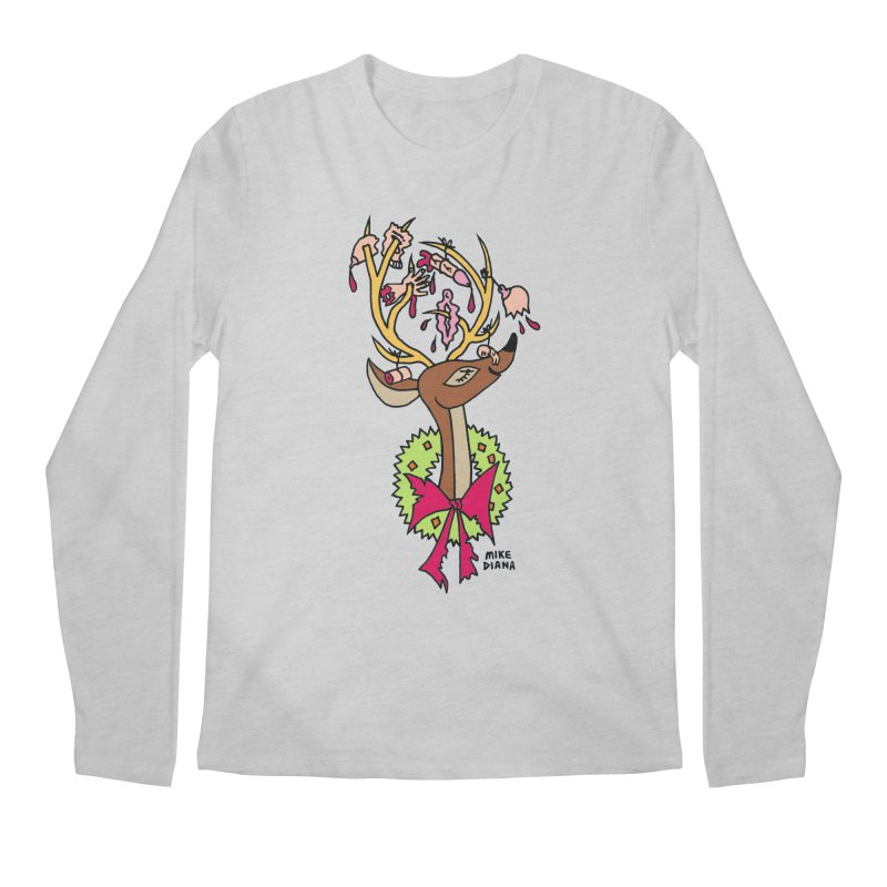 Mike Diana Christmas Trophy Men's Longsleeve T-Shirt by Mike Diana T-Shirts! Horrible Ugly Heads Limited E