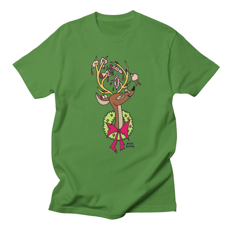 Mike Diana Christmas Trophy Women's Unisex T-Shirt by Mike Diana T-Shirts! Horrible Ugly Heads Limited E