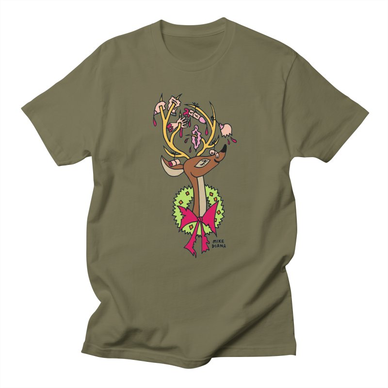 Mike Diana Christmas Trophy Women's Regular Unisex T-Shirt by Mike Diana T-Shirts Mugs and More!