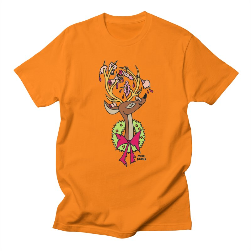Mike Diana Christmas Trophy Women's Regular Unisex T-Shirt by Mike Diana T-Shirts! Horrible Ugly Heads Limited E