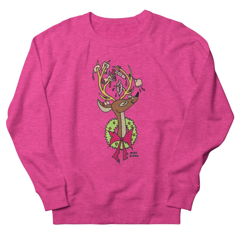 Mike Diana Christmas Trophy Men's French Terry Sweatshirt by Mike Diana T-Shirts Mugs and More!