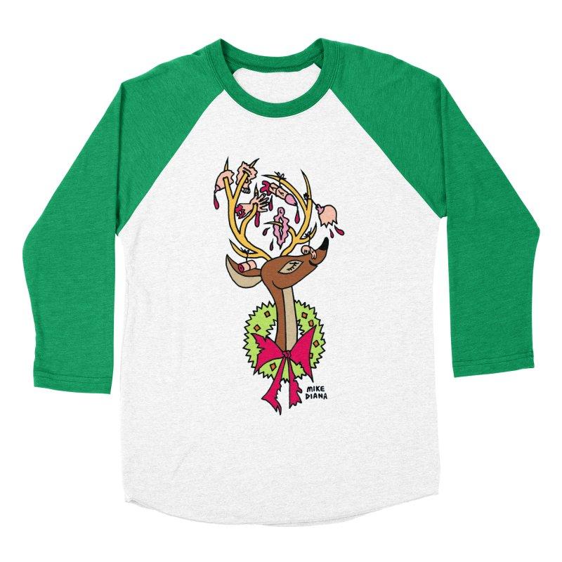 Mike Diana Christmas Trophy Women's Baseball Triblend Longsleeve T-Shirt by Mike Diana T-Shirts Mugs and More!