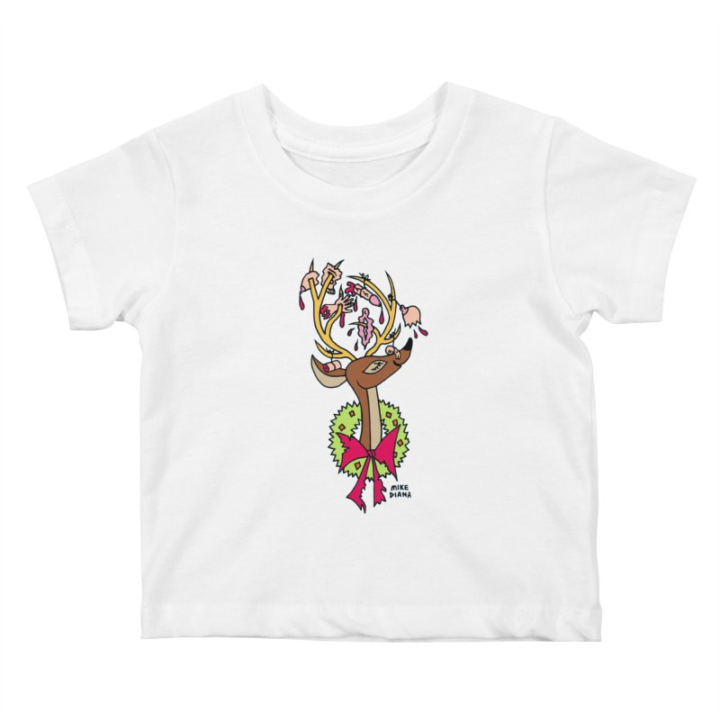Mike Diana Christmas Trophy Kids Baby T-Shirt by Mike Diana T-Shirts! Horrible Ugly Heads Limited E
