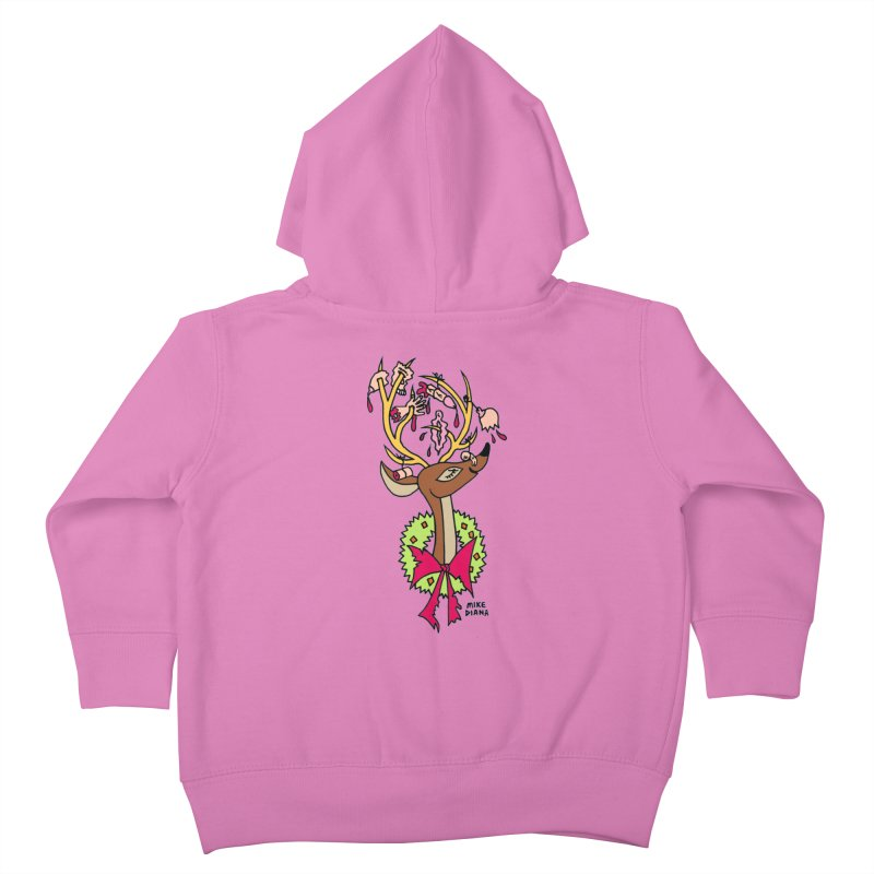 Mike Diana Christmas Trophy Kids Toddler Zip-Up Hoody by Mike Diana T-Shirts! Horrible Ugly Heads Limited E