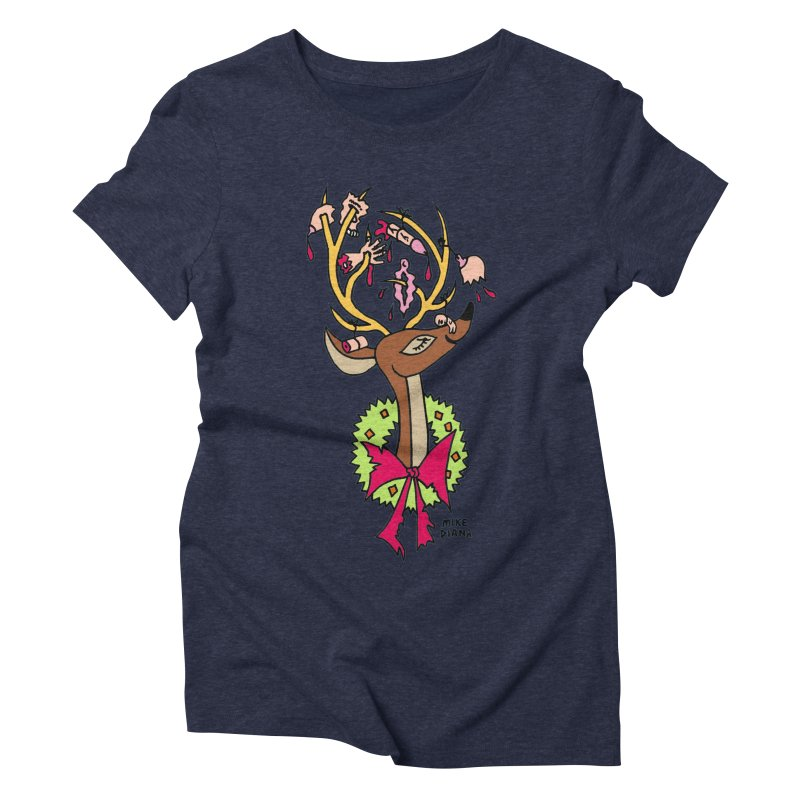 Mike Diana Christmas Trophy Women's Triblend T-Shirt by Mike Diana T-Shirts Mugs and More!