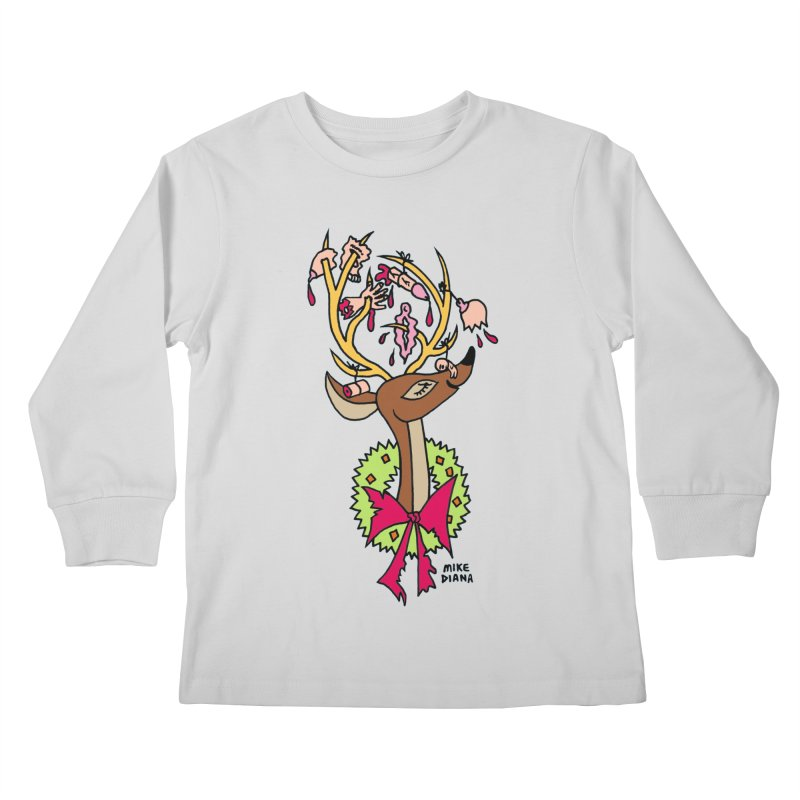 Mike Diana Christmas Trophy Kids Longsleeve T-Shirt by Mike Diana T-Shirts Mugs and More!