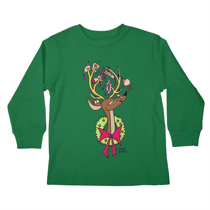 Mike Diana Christmas Trophy Kids  by Mike Diana T-Shirts! Horrible Ugly Heads Limited E