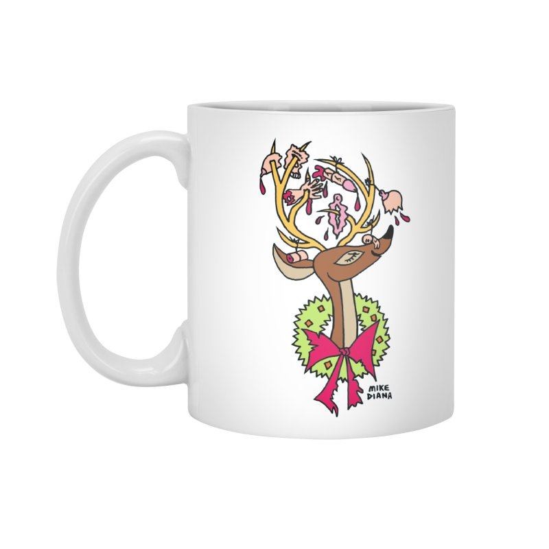 Mike Diana Christmas Trophy Accessories Standard Mug by Mike Diana T-Shirts Mugs and More!