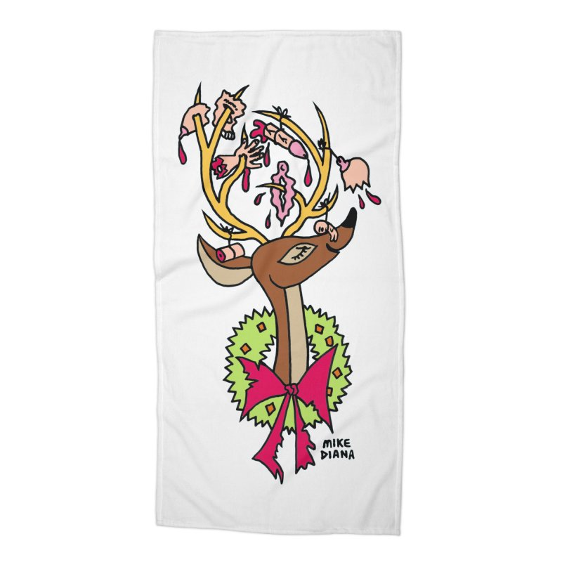 Mike Diana Christmas Trophy Accessories Beach Towel by Mike Diana T-Shirts Mugs and More!