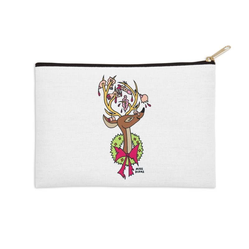 Mike Diana Christmas Trophy Accessories Zip Pouch by Mike Diana T-Shirts Mugs and More!